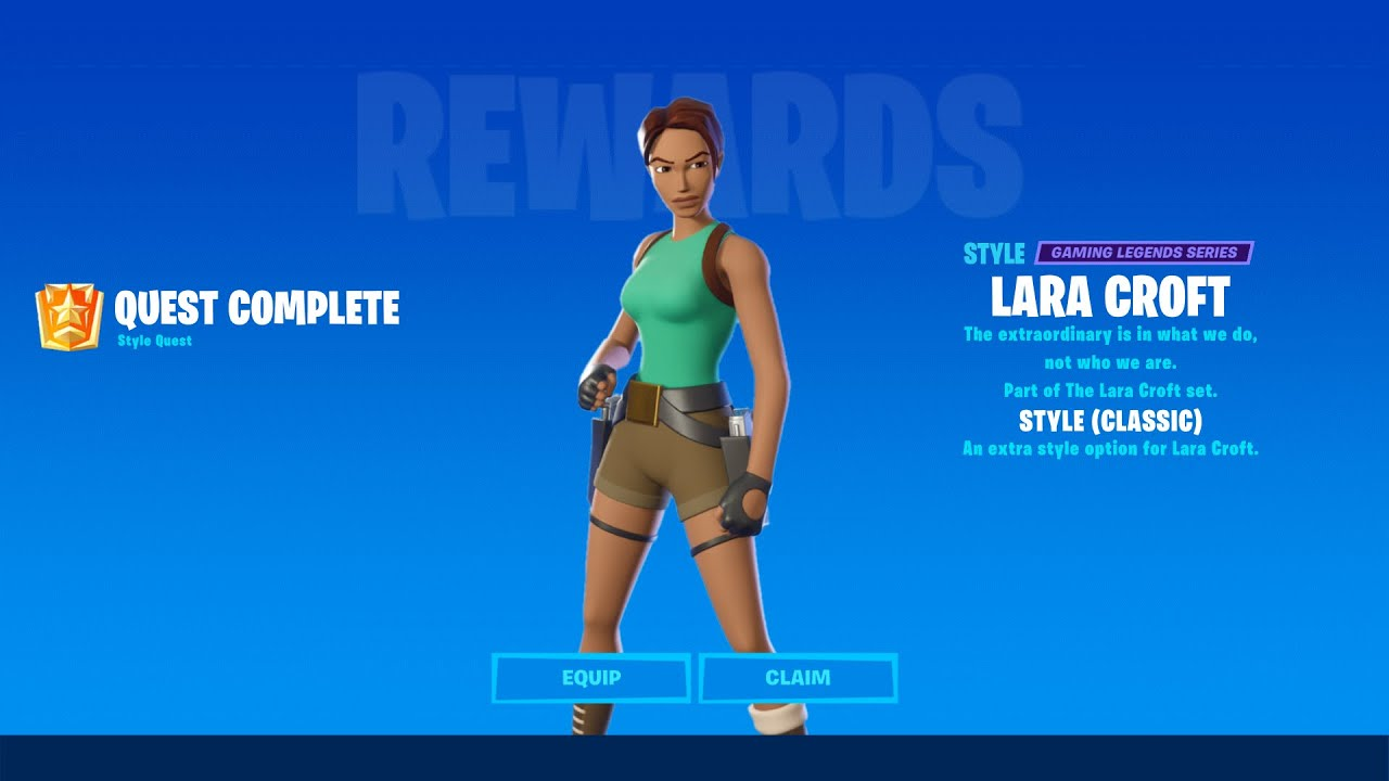 How to Unlock FREE Lara Croft Classic Edit Style in Fortnite Season 6! - Complete 31 Epic Quests