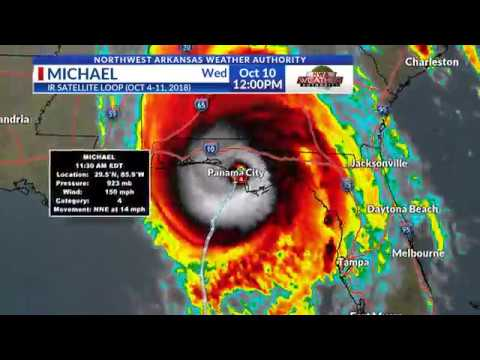 Hurricane Michael 7 Day Lifetime IR Satellite Loop  (Oct 4-11, 2018)