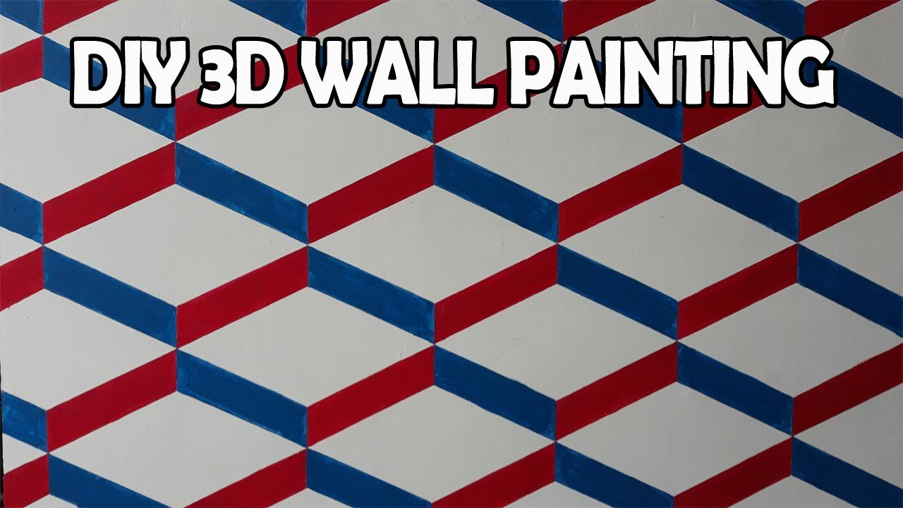 Easy DIY 3D Wall Painting Art | 3D Wall Texture | 3D New ...