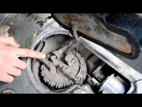 Hyundai Accent 2. Замена топливного фильтра грубой очистки (Сеточка в бензонасосе)