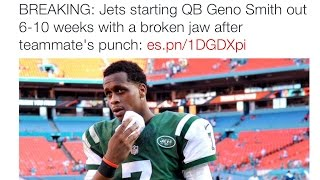 Geno Smith Out  6-10 Weeks After Being Punched Directly In The Face! [Reaction]