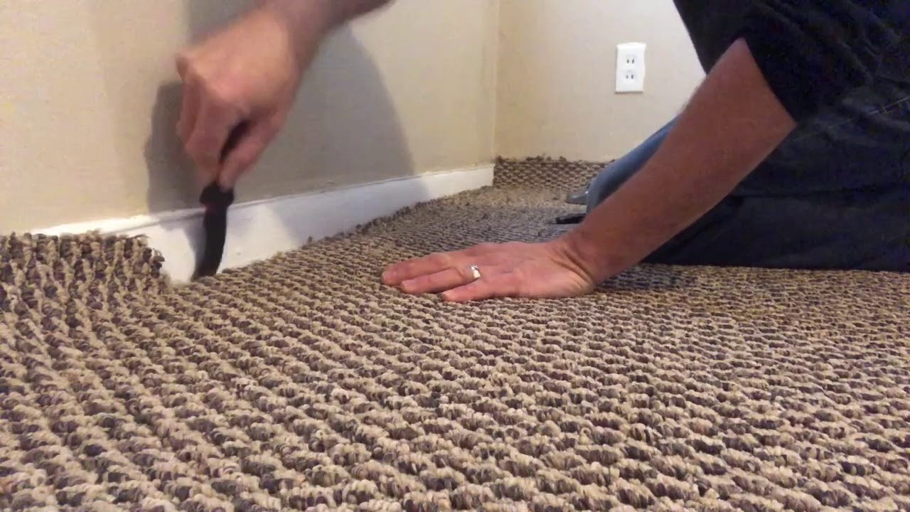 How To Install Berber Carpet In A Bedroom Step By Step Youtube
