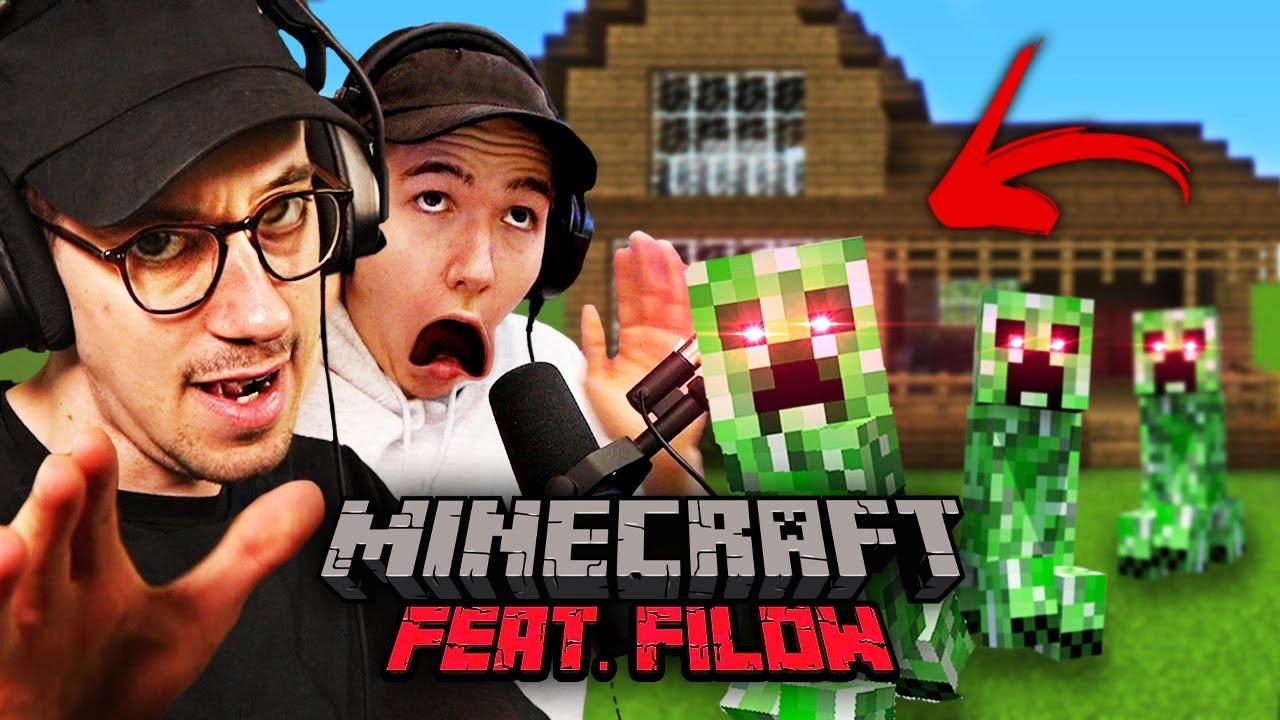Dieses Video endet wenn 3 Creeper ohne Explosion in ein Haus kommen | Minecraft feat. Filow | 006