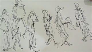 Веселые выходные. Артохота в городе. Рисуем людей в движении(Самое интересное научиться рисовать людей в движении. Это не так сложно как кажется если не ставить себе..., 2015-12-13T18:31:06.000Z)