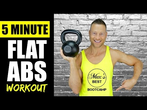5 MINUTE KETTLEBELL ABS WORKOUT FOR A FLAT STOMACH | Quick Kettlebell Abs Workout Routine 2
