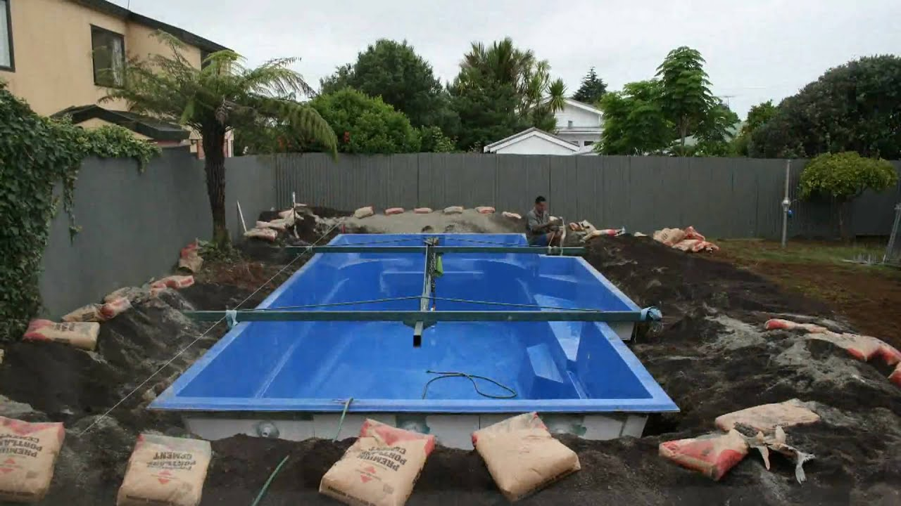 The Fastest Swimming Pool Build Ever Youtube