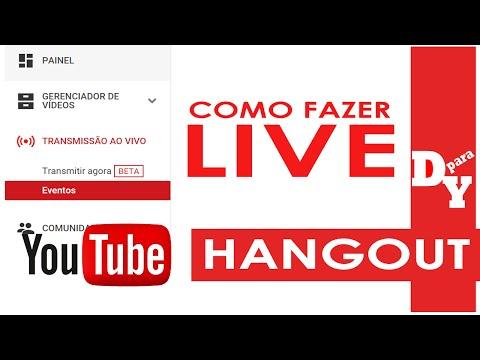 Como criar uma live no Youtube pelo Hangout iniciantes - Dicas Para Youtubers