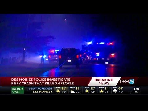 Police: 4 Dead In Overnight Crash In Des Moines