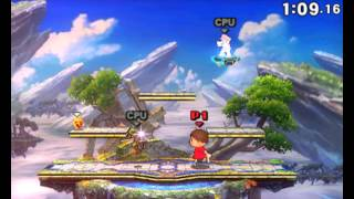 60FPS Super Smash Bros 4 [3DS] Gameplay