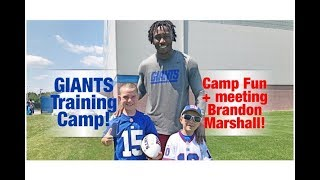 Giants Training Camp fun ft. Brandon Marshall