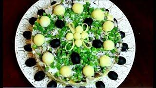 Салат из скумбрии копченой -  Салаты на новый год 2018