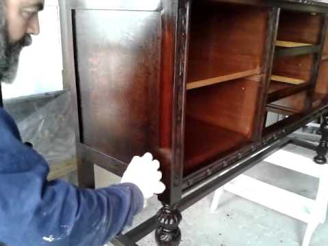 como restaurar un mueble antiguo