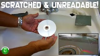 How To Repair Scratched UNREADABLE CD's & DVD's(Optical Discs)