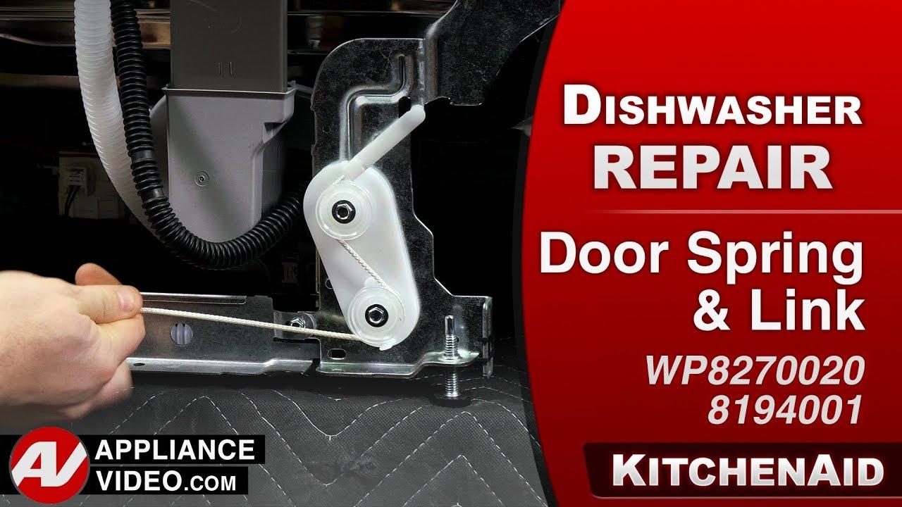 Kitchenaid Dishwasher Diagnostic Repair Door Spring Link Youtube