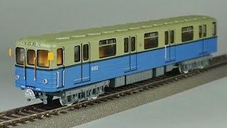обзор масштабная модель железная дорога № 60/103 вагон метро Ем 1:87 (parovoziki.ru) modelling