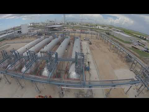 Deluge Fire Sprinkler System Trip Test - Aerial View