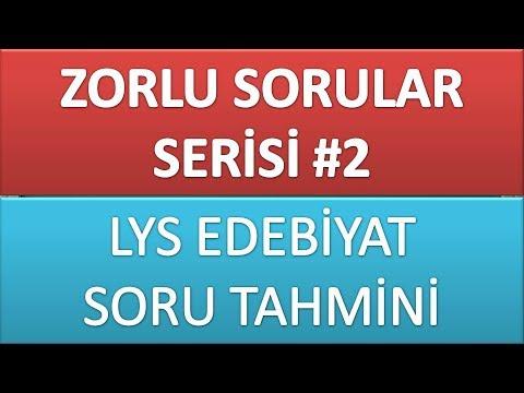 ZORLU SORULAR SERİSİ 2 / LYS EDEBİYAT...