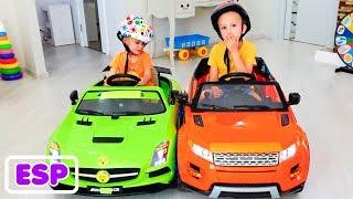 Vlad y Nikita montan en Toys Cars Family Fun Playtime