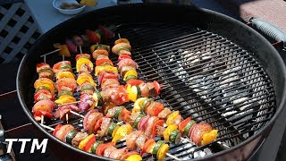 How to Make Steak Kabobs on the Weber Kettle