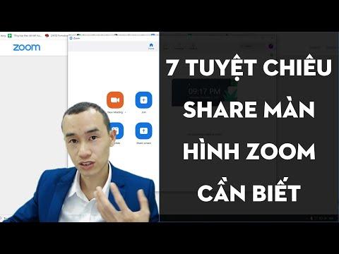 7 tuyệt chiêu khi share màn hình tất cả người dùng Zoom cần phải biết