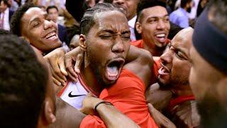 Kawhi Leonard Crazy Series Winning Buzzer Beater. Raptors vs 76ers Game 7