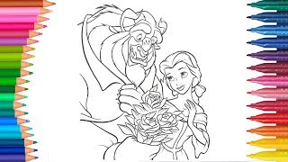 PRINCESS BELLA - BEAUTY AND THE BEAST (Little Hands Coloring Book)