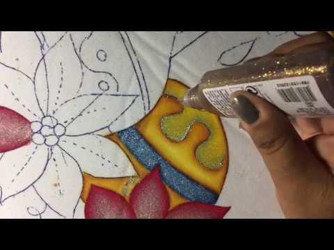 Pintura en tela nochebuena 2 con cony youtube - Pintura en tela motivos navidenos ...