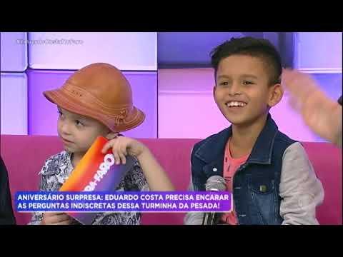 """Crianças colocam Eduardo Costa em """"saia justa"""" durante entrevista"""