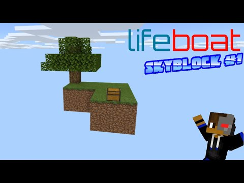 Minecraft - Lifeboat Skyblock #1 - Expanding the island