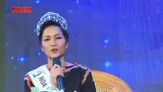 Tân Hoa hậu hoàn vũ H'Hen Niê giao lưu, trò chuyện với thanh, thiếu niên tỉnh Đác Lắc
