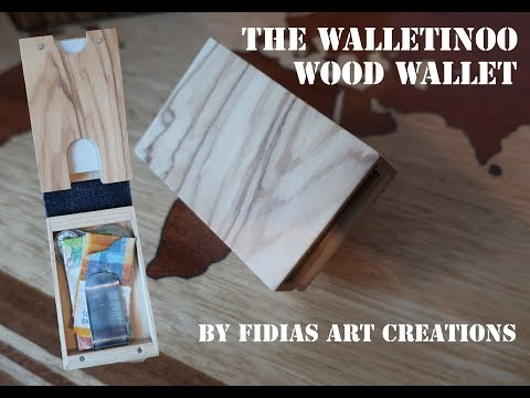 Wood Wallet -The Ultimate wooden wallet from Fidias Art Creations