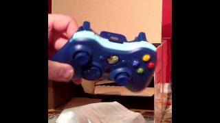 Xbox 360 500GB Special Edition Blue Bundle Unboxing