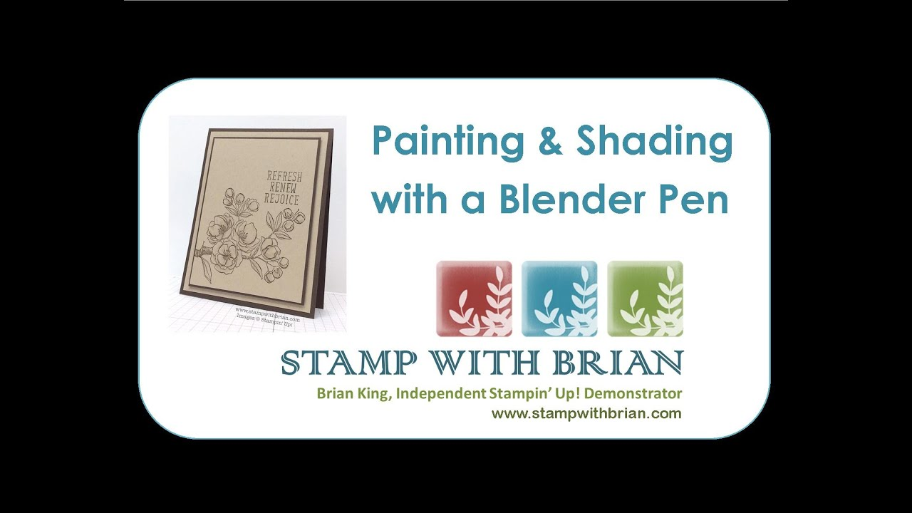 New Video & Card: Painting and Shading Indescribable Gift with