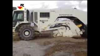 RABAUD самоходный ресайклер Rotostab 525(контакт: info_rabaud@rambler.ru Самоходная машина ROTOSTAB 525 весом 22,6 тонн с гидростатическим приводом хода работает..., 2014-02-05T13:57:19.000Z)