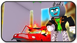 Crushing My Very First Car And Destroying It - Roblox Car Crushers 2