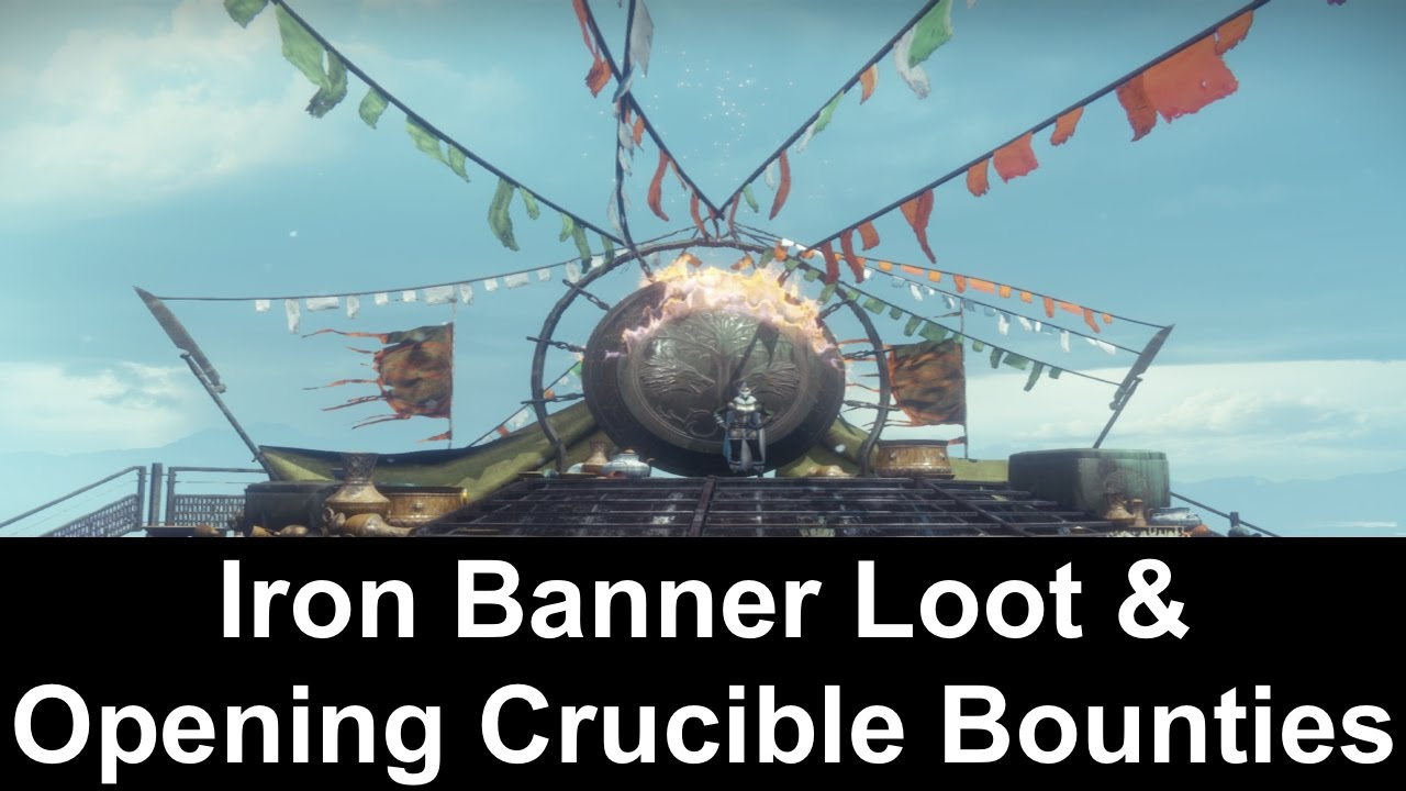 destiny age of triumph - iron banner loot & opening crucible