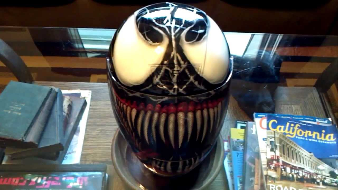 Custom Welding Helmets >> Custom Painted Airbrushed Venom Helmet - YouTube
