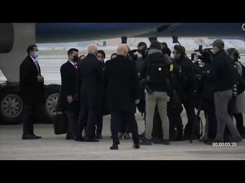 Press Gaggle: Joe Biden Speaks to the Press After Arrival at Joint Base Andrews - February 19, 2021