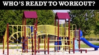 Outdoor Playground Workout For Women (best Park Exercises For Moms!!)