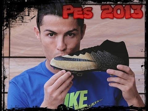 5227510f1ef96 Botas Tacos de CR7 NIKE Rare Gold Ballon D OR 2014 2015 2016 Pes 2013 HD