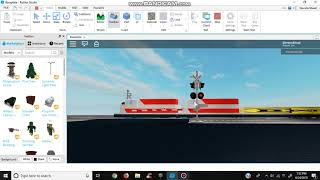 The BN-SF Train Passes An Old Safetran Railroad Crossing (ROBLOX)