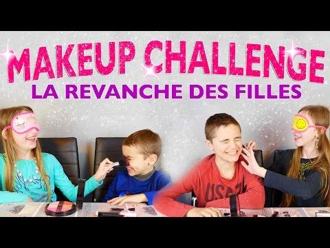 MAKEUP CHALLENGE Filles VS Garçons - La vengeance des filles : Maquillage à l'aveugle !