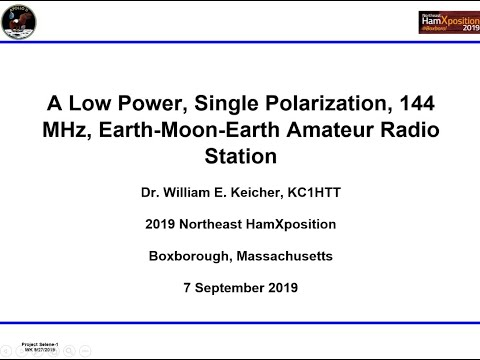 A Low Power 144 MHz Earth-Moon-Earth Amateur Radio Station By Dr.  William E. Keicher, KC1HTT