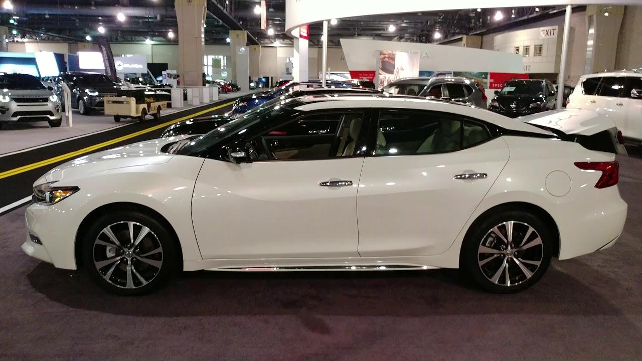 2018 White Nissan Maxima Platinum Philadelphia Convention Center Car Show