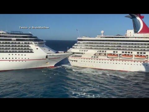 2 Carnival Cruise Line passenger ships collide