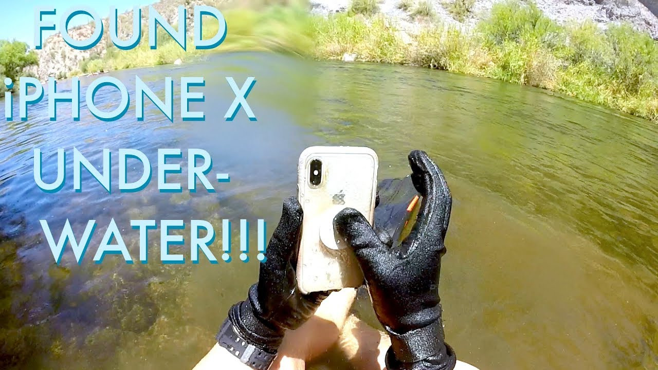 brand new cb598 89878 I Found an iPhone X Underwater in the River!!! (iPhone Returned to Owner -  BEST REACTION EVER!)