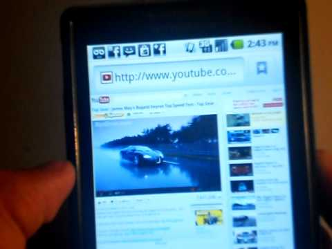 Motorola Triumph Flash player on the stock android browser