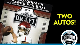 2019 Leaf Draft Football Blaster Box Break