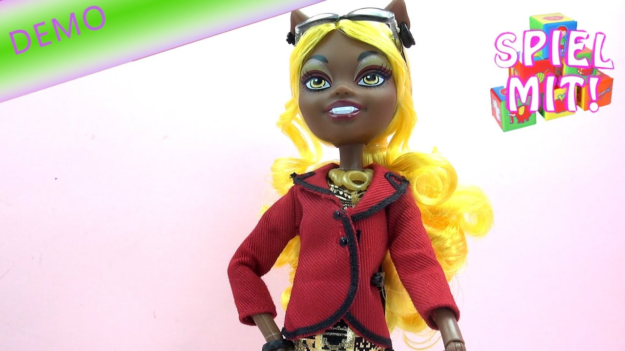 Monster High Clawdia Wolf Puppe Review - YouTube