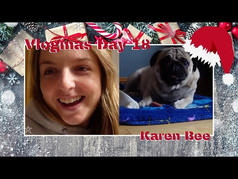 Vlogmas 2020 Day 18 | Buzz enjoying snacks, advent and being up on the bed | Karen Bee
